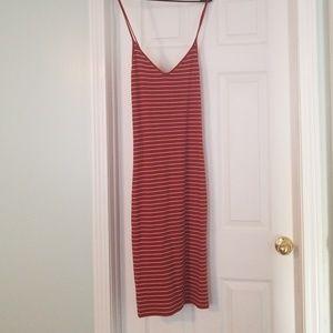 NWOT red striped lightweight summer dress